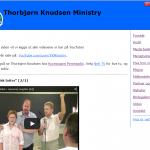 Denne nettsiden hadde lagt ut flere videoer på YouTube. Dette er en visnings database for alle videoene.